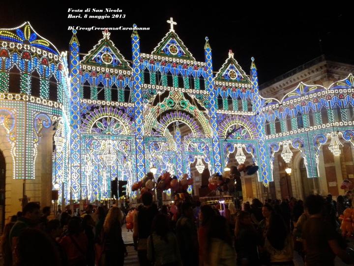 Luminarie Bari Festa di San Nicola