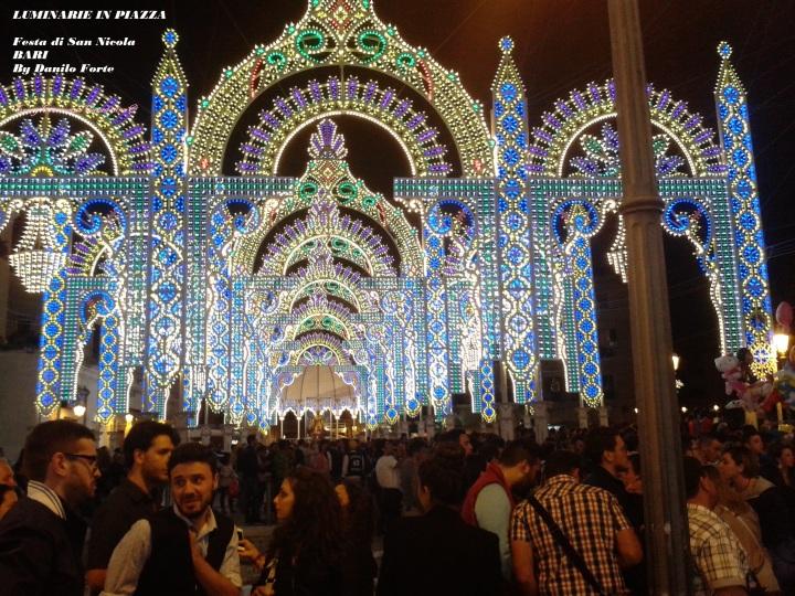 Luminarie in Piazza Festa di San Nicola BARI 9Maggio 2013