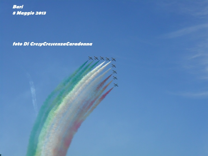Le Frecce Tricolore a Bari